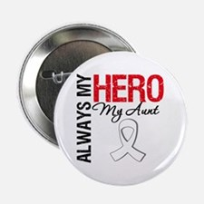 """Lung Cancer Hero Aunt 2.25"""" Button"""