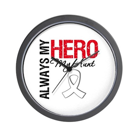 Lung Cancer Hero Aunt Wall Clock
