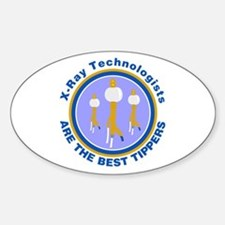 X-Ray Technologists Are The B Oval Decal