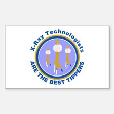 X-Ray Technologists Are The B Rectangle Decal