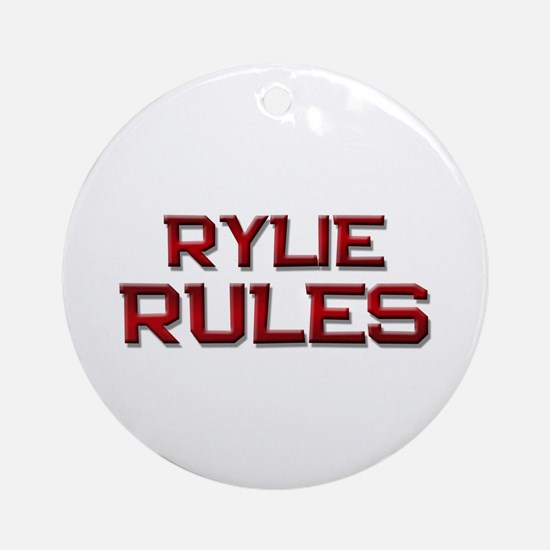 rylie rules Ornament (Round)