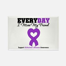 Alzheimer's MissMyFriend Rectangle Magnet