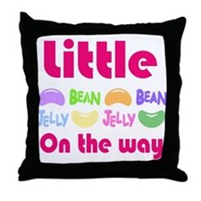 Little Jelly Bean on the way Throw Pillow