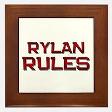 rylan rules Framed Tile