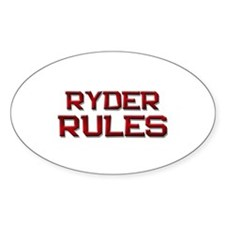 ryder rules Oval Decal