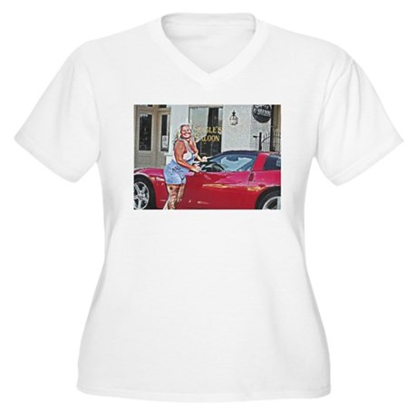 Seagle's Saloon Women's Plus Size V-Neck T-Shirt