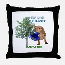 Tree Doxie Throw Pillow