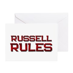 russell rules Greeting Cards (Pk of 20)