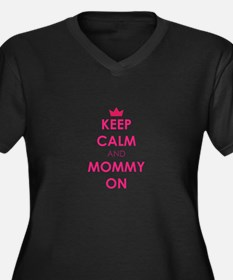 Keep Calm and Mommy On pink Plus Size T-Shirt