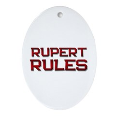 rupert rules Oval Ornament
