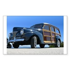 1940 Ford Woody Rectangle Decal