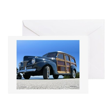 1940 Ford Woody Greeting Card