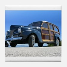 1940 Ford Woody Tile Coaster