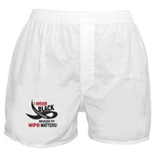 I Wear Black For My Wife 33.2 Boxer Shorts