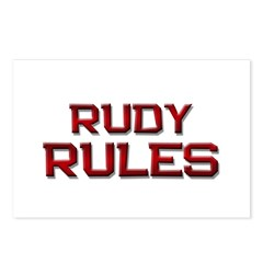 rudy rules Postcards (Package of 8)
