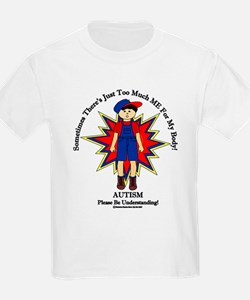 Just Too Much ME Brunette Boy Blue T-Shirt