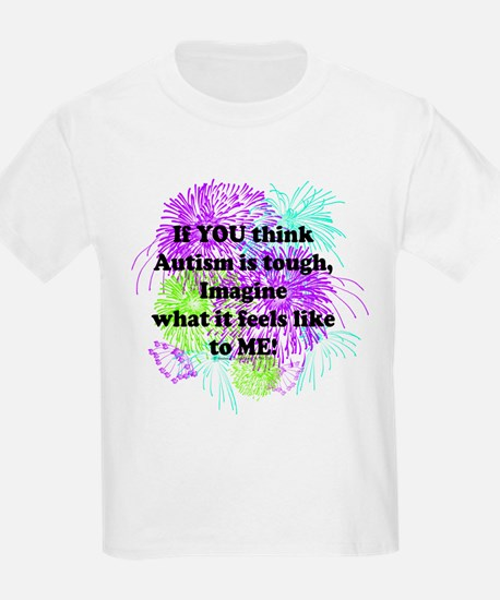 If You Think Autism Is Tough Purple Green T-Shirt
