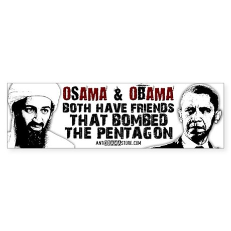 Osama & Obama Bumper Sticker
