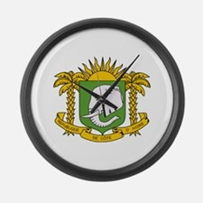 Cote Divoire Coat of Arms Large Wall Clock