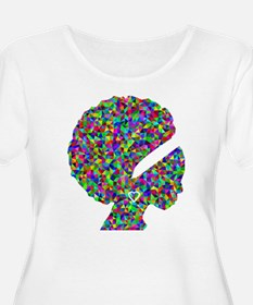 Rainbow Afro Woman Silhouette Plus Size T-Shirt