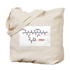 Sonia name molecule Tote Bag