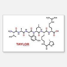 Taylor name molecule Rectangle Decal