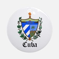 Cuban Coat of Arms Seal Ornament (Round)