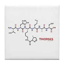 Thomas name molecule Tile Coaster