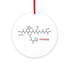 Thomas name molecule Ornament (Round)