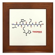 Thomas name molecule Framed Tile