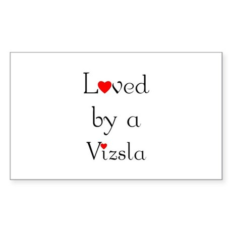 Loved by a Vizsla Rectangle Sticker