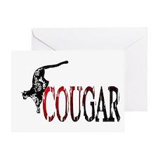 Hunting Cougar design Greeting Card