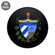 "Coat of Arms of Cuba 3.5"" Button (10 pack)"