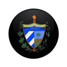 "Coat of Arms of Cuba 3.5"" Button"