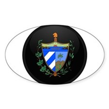 Coat of Arms of Cuba Oval Bumper Stickers