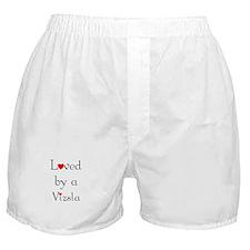 Loved by a Vizsla Boxer Shorts