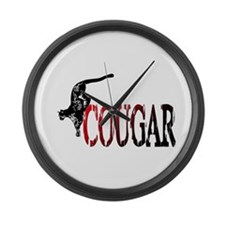 Hunting Cougar design Large Wall Clock