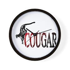 Hunting Cougar design Wall Clock