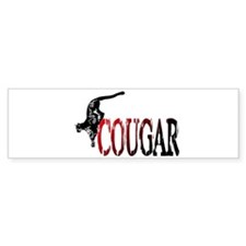 Hunting Cougar design Bumper Bumper Sticker