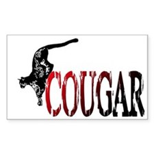 Hunting Cougar design Rectangle Decal
