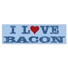 I Love Heart Bacon Bumper Bumper Sticker