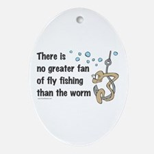Funny Fly Fishing Oval Ornament