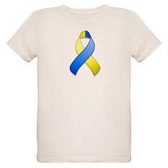 Blue and Yellow Awareness Ribbon T-Shirt