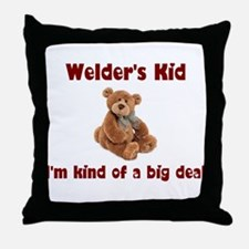 Welder's Kids Throw Pillow