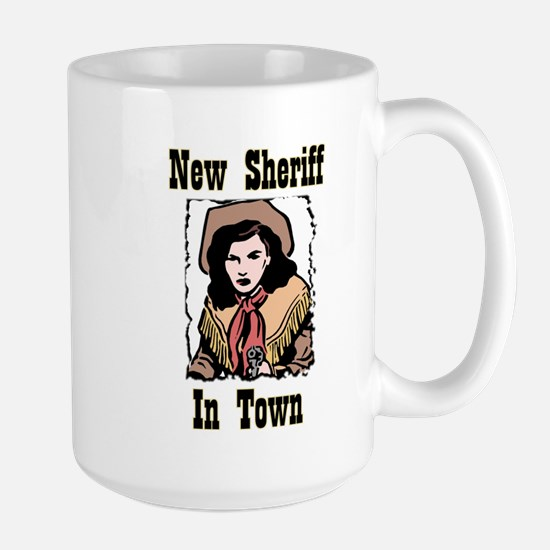 """New Sheriff"" Large Mug"