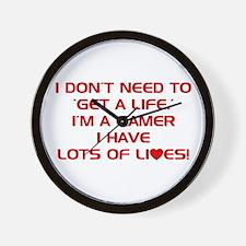 Get A Life Wall Clock