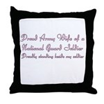 National Guard Wife (standing) Throw Pillow