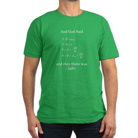 God Said Maxwell's Equations Men's Fitted T-Shirt
