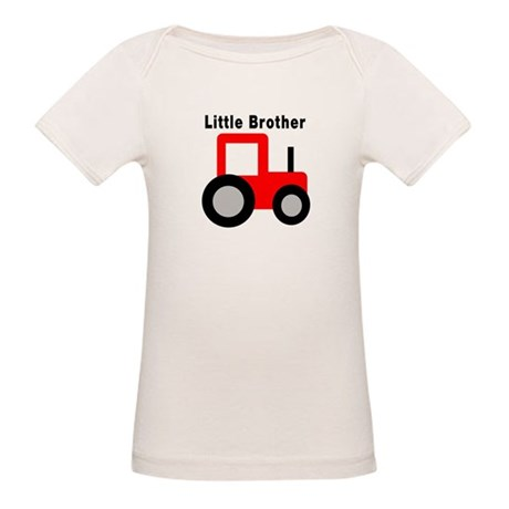 Little Brother Red Tractor Organic Baby T-Shirt