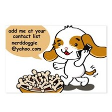 cell phone dog Postcards (Package of 8)